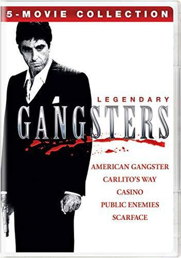 Legendary Gangsters: 5-Movie Collection (American Gangster/Carlito'sWay/Casino/Public Enemies/Scarface)