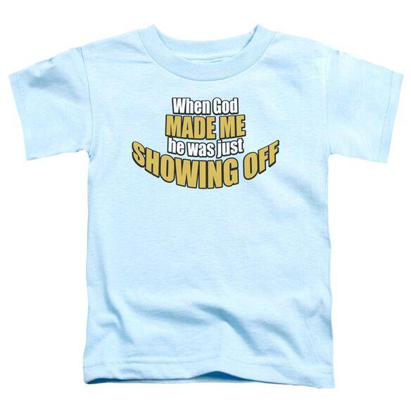 Showing Off Short Sleeve Toddler Tee Light Blue Md T-Shirt