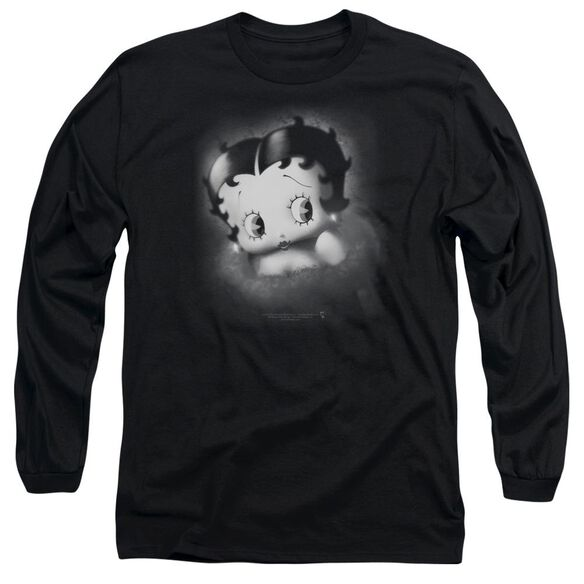 Betty Boop Vintage Star Long Sleeve Adult T-Shirt