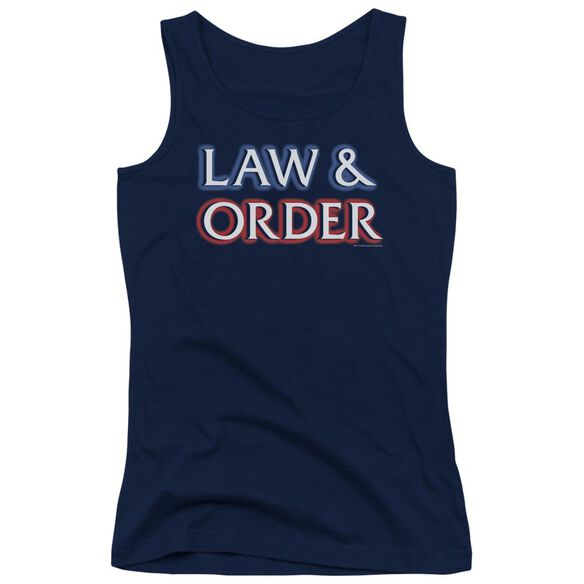Law And Order Logo Juniors Tank Top