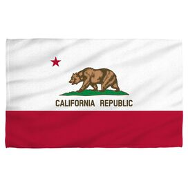 California Flag Face Hand Towel