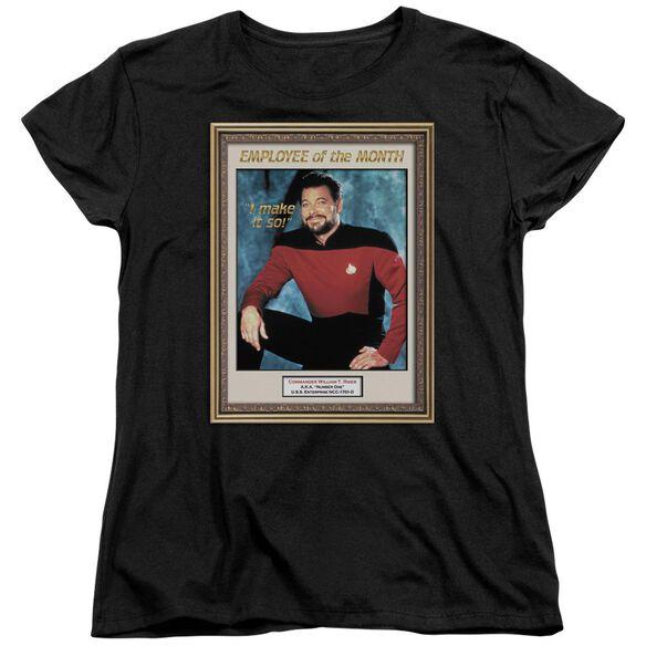 Star Trek Employee Of Month Short Sleeve Womens Tee T-Shirt