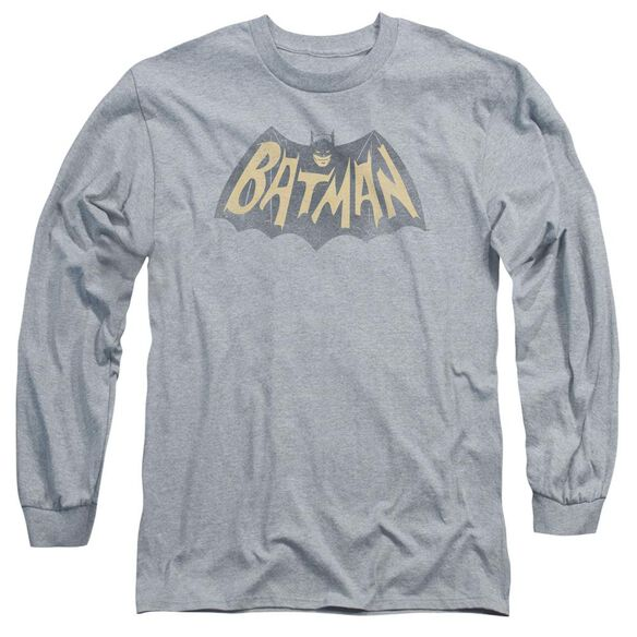 Batman Classic Tv Show Logo Long Sleeve Adult Athletic T-Shirt