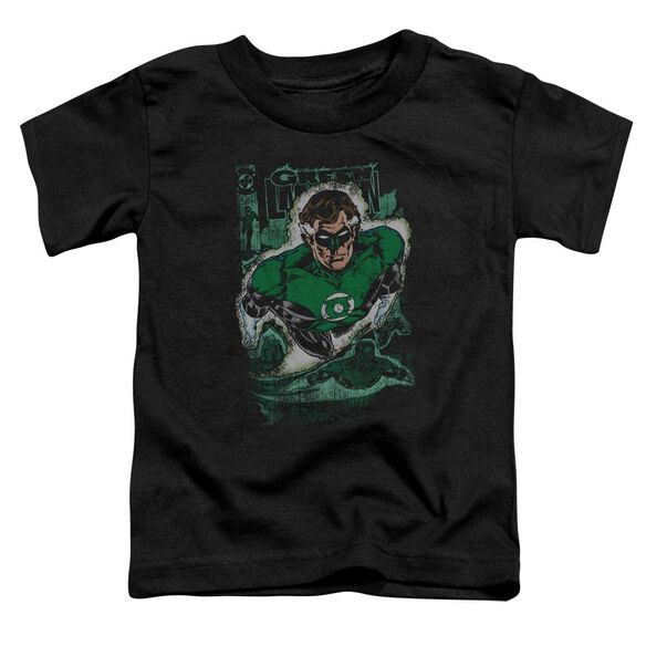 Jla Green Lantern #1 Distress Short Sleeve Toddler Tee Black Lg T-Shirt