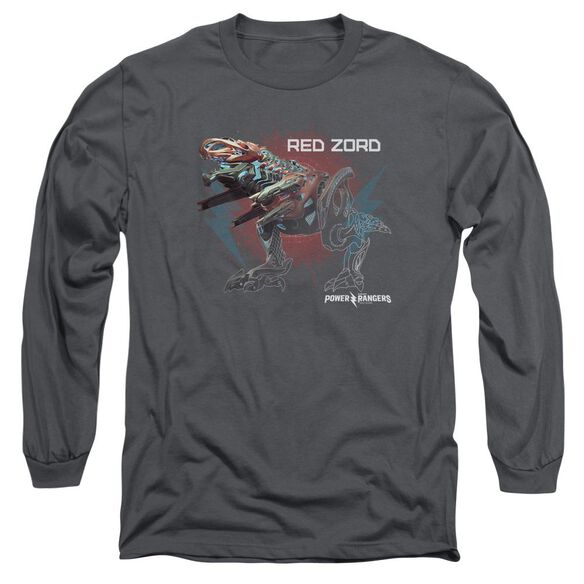 Power Rangers Red Zord Long Sleeve Adult T-Shirt