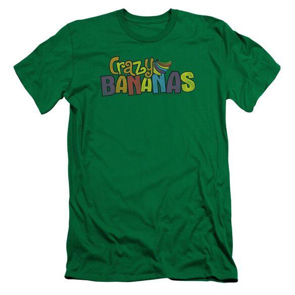 Dubble Bubble Crazy Bananas Short Sleeve Adult Kelly T-Shirt