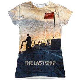Last Ship Searching Short Sleeve Junior Poly Crew T-Shirt