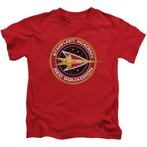 Star Trek Red Squadron Short Sleeve Juvenile Red T-Shirt