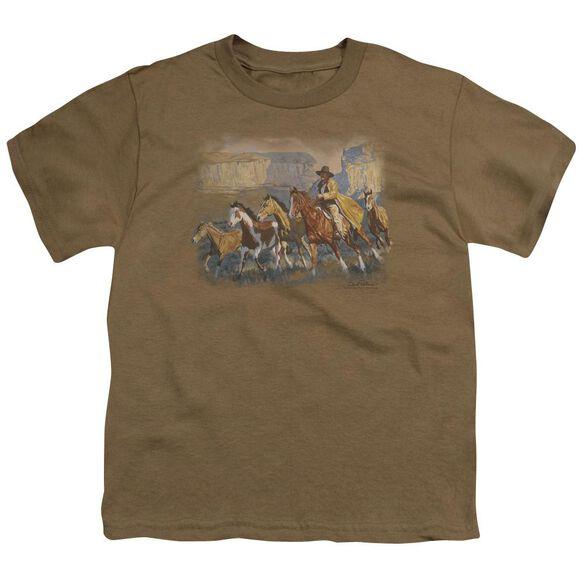Wildlife A Cowboy Day Short Sleeve Youth Safari T-Shirt