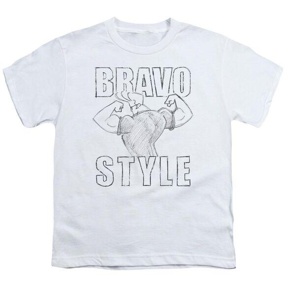 Johnny Bravo Bravo Style Short Sleeve Youth T-Shirt