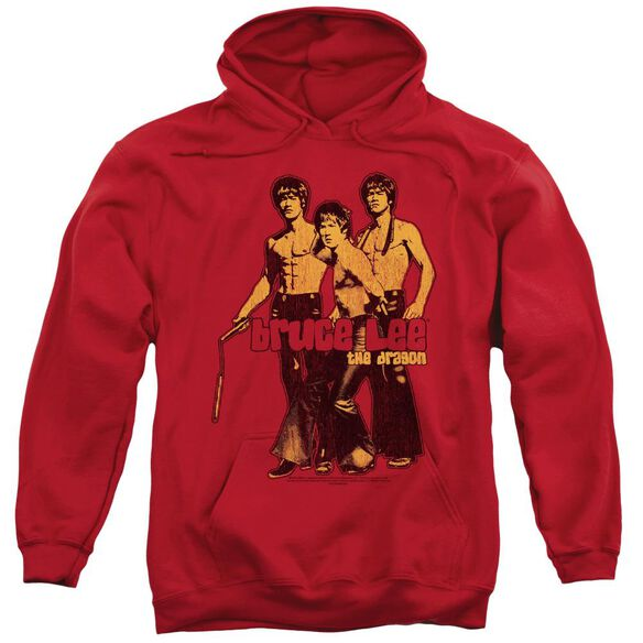Bruce Lee Nunchucks Adult Pull Over Hoodie