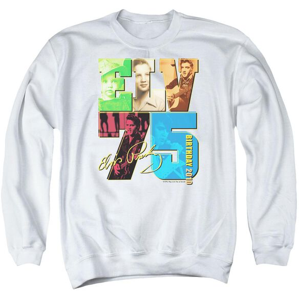 Elvis Birthday 2010 Adult Crewneck Sweatshirt