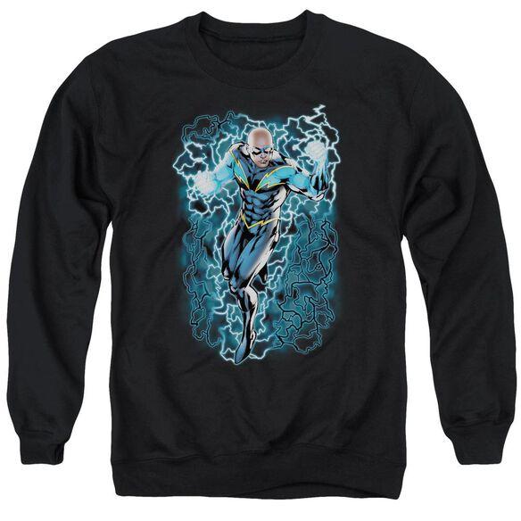 Jla Lightning Bolts Adult Crewneck Sweatshirt