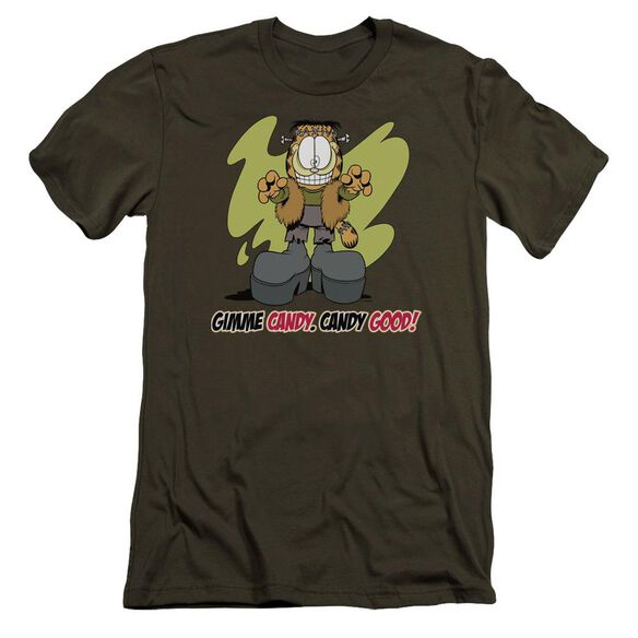 Garfield Candy Good Premuim Canvas Adult Slim Fit Military