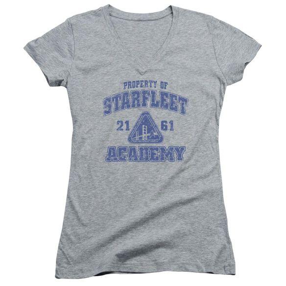 Star Trek Old School Junior V Neck Athletic T-Shirt