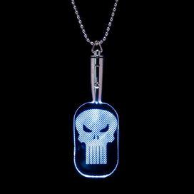 Punisher LED Light Up Dog Tag