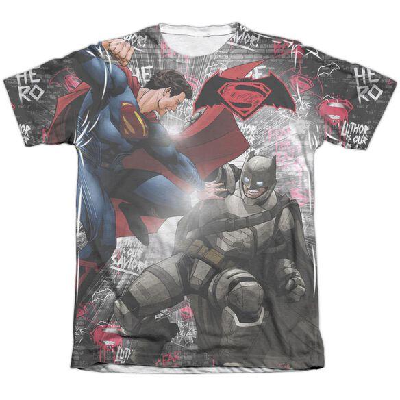 Batman V Superman Showdown Adult Poly Cotton Short Sleeve Tee T-Shirt
