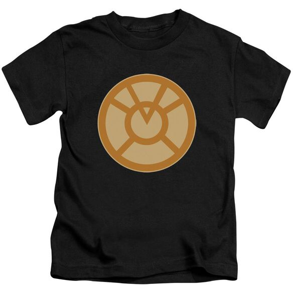 Green Lantern Orange Symbol Short Sleeve Juvenile Black T-Shirt