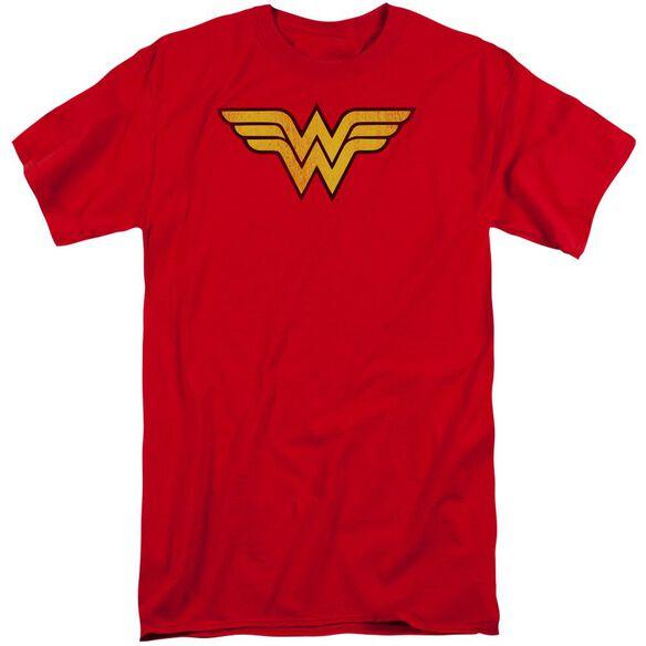 Dc Wonder Woman Logo Dist Short Sleeve Adult Tall T-Shirt