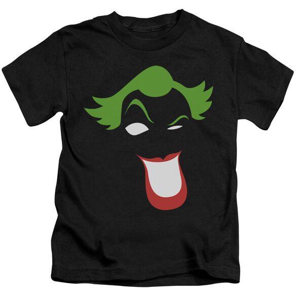 Batman Joker Simplified Short Sleeve Juvenile Black Md T-Shirt