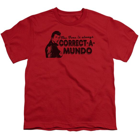 Happy Days Correct A Mundo Short Sleeve Youth T-Shirt