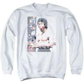 Bruce Lee Revving Up - Adult Crewneck Sweatshirt - White