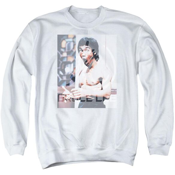 Bruce Lee Revving Up Adult Crewneck Sweatshirt