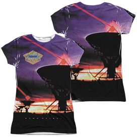 Night Ranger Dawn Patrol (Front Back Print) Short Sleeve Junior Poly Crew T-Shirt