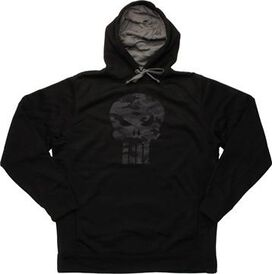 Punisher Camouflage Skull Logo Pullover Hoodie