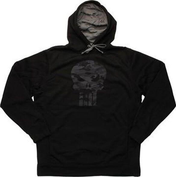 Punisher Camouflage Skull Logo Pullover Hoodie