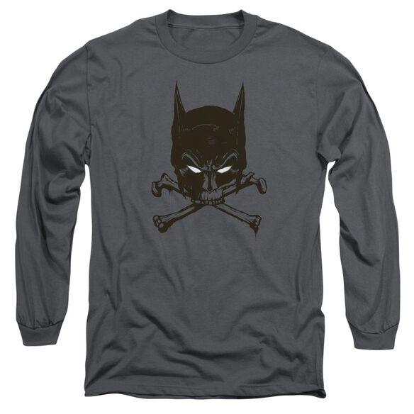Batman Bat And Bones Long Sleeve Adult T-Shirt