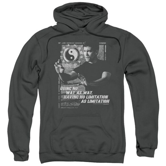 Bruce Lee No Way As A Way Adult Pull Over Hoodie