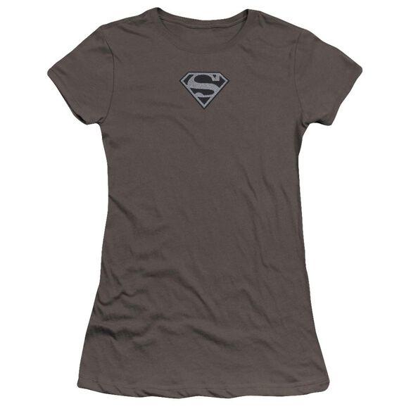 Superman Superman Mesh Emblem Premium Bella Junior Sheer Jersey