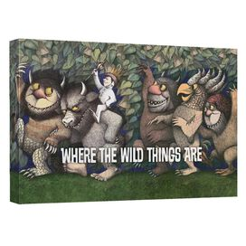 Where The Wild Things Are Wild Rumpus Dance Canvas Wall Art With Back Board