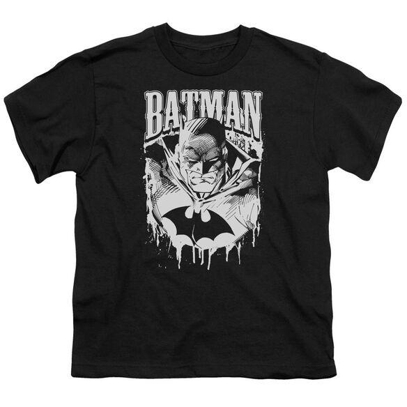 Batman Bat Metal Short Sleeve Youth T-Shirt