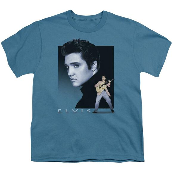 Elvis Blue Rocker Short Sleeve Youth T-Shirt