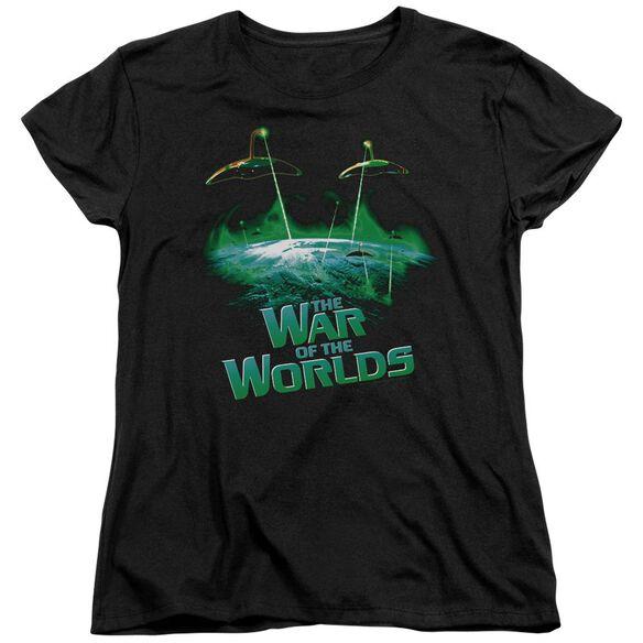 War Worlds Global Attack Short Sleeve Womens Tee T-Shirt