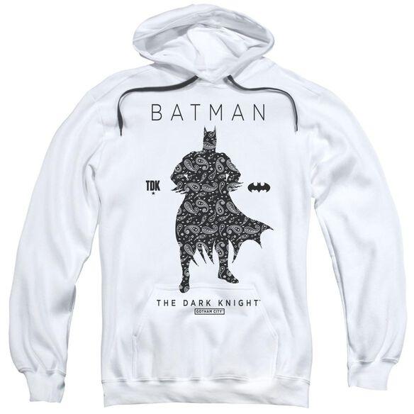 Batman Paislety Silhouette Adult Pull Over Hoodie