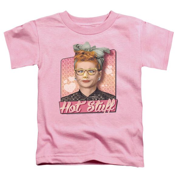 I Love Lucy Hot Stuff Short Sleeve Toddler Tee Pink T-Shirt