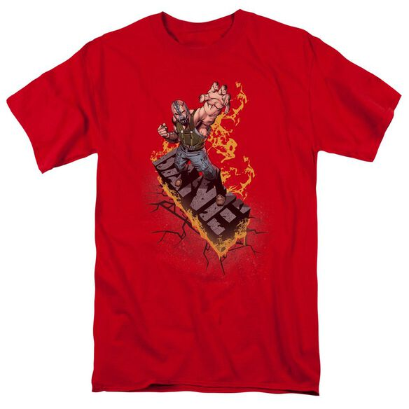 Dark Knight Rises Bane On Fire Short Sleeve Adult Red T-Shirt