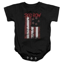 Skid Row Flagged Infant Snapsuit Black