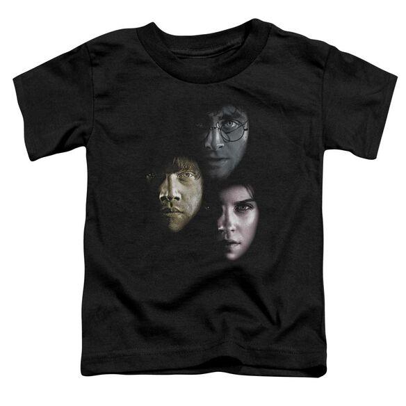 Harry Potter Hero Heads Short Sleeve Toddler Tee Black T-Shirt