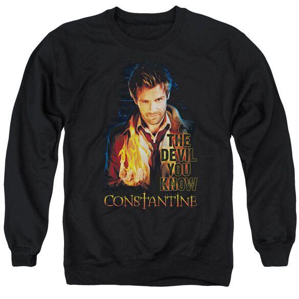 Constantine Devil You Know Adult Crewneck Sweatshirt