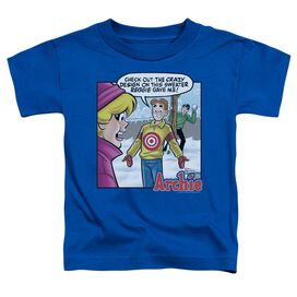 1af648ffe Archie Comics Crazy Sweater Short Sleeve Toddler Tee Royal Blue Lg T-Shirt