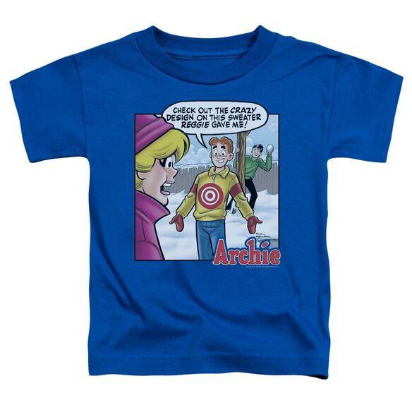 Archie Comics Crazy Sweater Short Sleeve Toddler Tee Royal Blue Lg T-Shirt