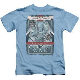 Batman Coldest Man Short Sleeve Juvenile Carolina Blue Md T-Shirt