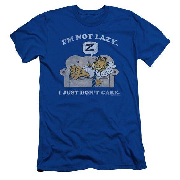 Garfield Not Lazy Short Sleeve Adult Royal T-Shirt