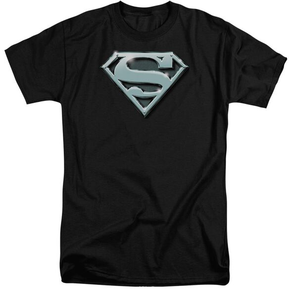 Superman Chrome Shield Short Sleeve Adult Tall T-Shirt