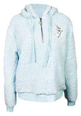 Frozen - Olaf Sherpa Half-Zip Hoodie