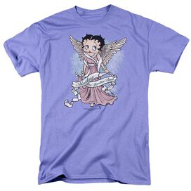 Betty Boop Mother Guardian Angel Short Sleeve Adult Lavendar T-Shirt